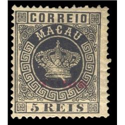 Timor 1885 5 Reis Scott #1 Black PSE MINT NO GUM