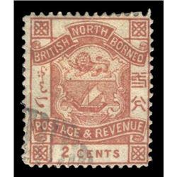 British North Borneo 1896 2 Cents Scott #27 Brown PSE VG50