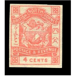 British North Borneo 1887 4 Cents Scott #39 Rose PSE F-VF75 MINT OGPH