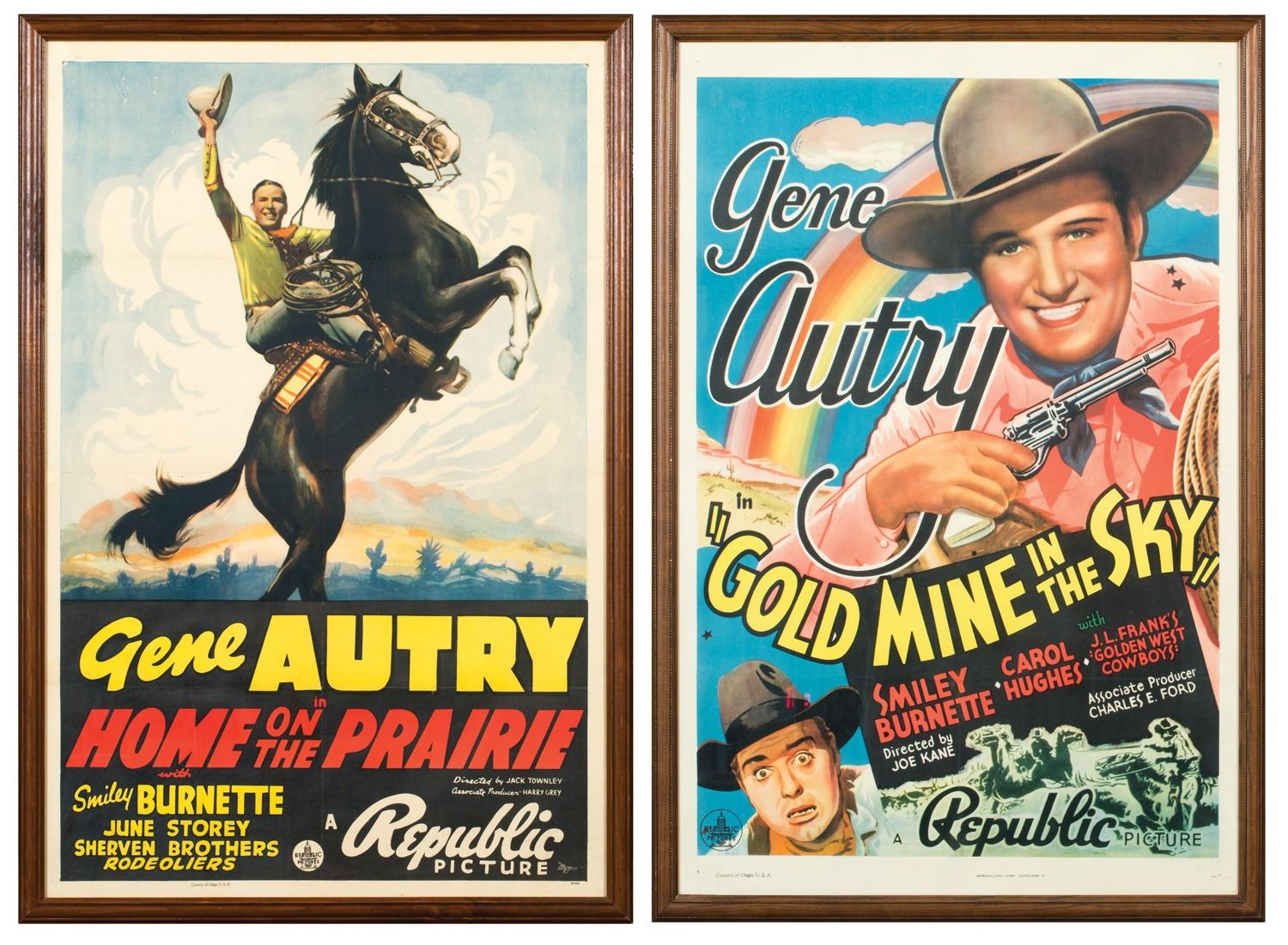 Gene Autry Vintage-Style Western 12x18 Movie Poster 1939 Home on the Prairie