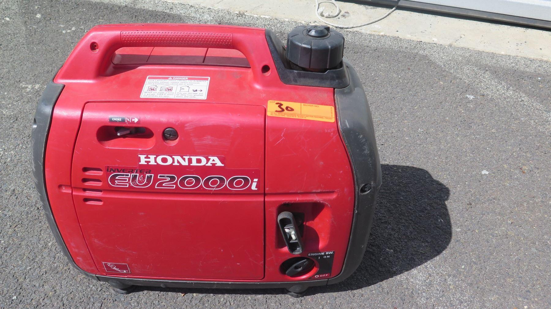 Honda EU2000I Generator - Starts and Runs, No Known Problems