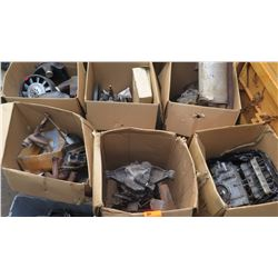 Large Lot of Vehicle Misc. Parts: Engines, Mufflers, etc.