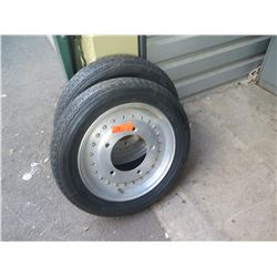 Qty 2 Michelin 135 SR 15 ZX Tires with Rims