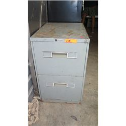 2-Drawer Metal File Cabinet w/ Misc. Items