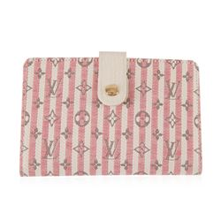 Louis Vuitton Red and White Striped Monogram Wallet