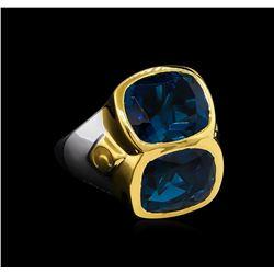Crayola 10.90 ctw Blue Topaz Ring - .925 Silver