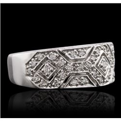 14KT White Gold 0.43 ctw Diamond Ring