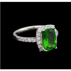 2.30 ctw Tsavorite and Diamond Ring - Platinum