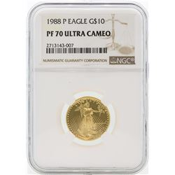 1988-P PF70 Ultra Cameo $10 Gold Eagle