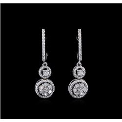 0.67 ctw Diamond Earrings - 14KT White Gold