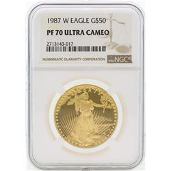 1987-W PF70 Ultra Cameo $50 Gold Eagle
