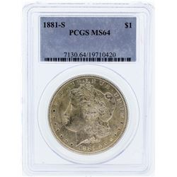1881-S PCGS MS64 Morgan Silver Dollar