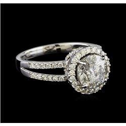 2.81 ctw Diamond Ring - 18KT White Gold