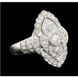 0.90 ctw Diamond Ring - Platinum