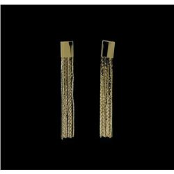 Multi Chain Tassel Earrings - Gold Plated
