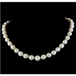 South Sea Cultured Pearl With Diamond Clasp