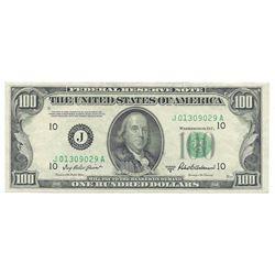 1950B $100 Fedreal Reserve Note - Kansas City, Block Priest