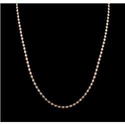 6.34 ctw Diamond Necklace - 18KT Rose Gold