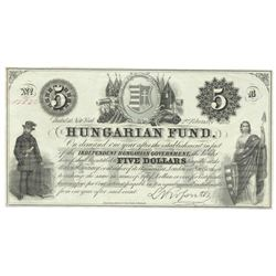 1852 $5 Obsolete Bank Note of New York