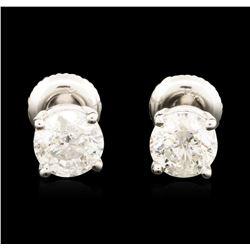 14KT White Gold 1.47 ctw Diamond Stud Earrings