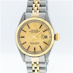 Rolex Two-Tone Champagne Index DateJust Ladies Watch