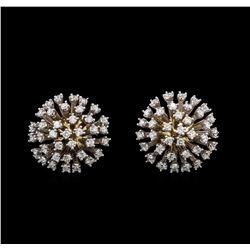 14KT White Gold 1.81 ctw Diamond Earrings