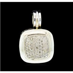 David Yurman Albion Diamond Pave Pendant - Silver and 18KT White Gold
