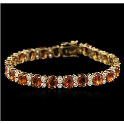 14KT Yellow Gold 16.75 ctw Yellow Sapphire and Diamond Bracelet