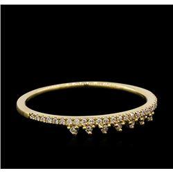0.1 ctw Diamond Ring - 14KT Yellow Gold