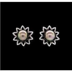 0.81 ctw Diamond Earrings - 18KT White Gold
