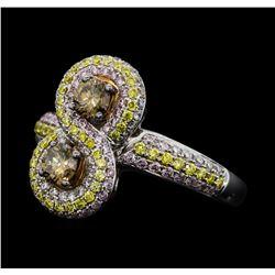 1.32 ctw Diamond Ring - 18KT White Gold
