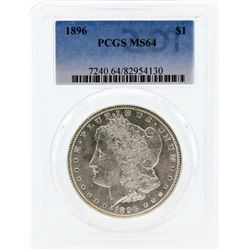 1896 PCGS MS64 Morgan Silver Dollar