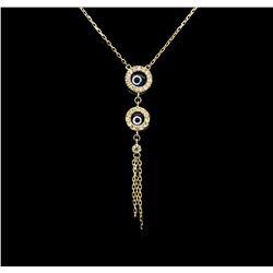 0.15 ctw Diamond Necklace - 14KT Yellow Gold