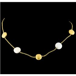 14KT Yellow Gold Mabe Pearl Necklace