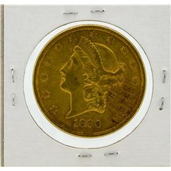 1896-S $20 AU Liberty Head Double Eagle Gold Coin
