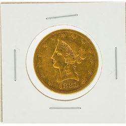 1881-S $10 VF Liberty Head Eagle Gold Coin