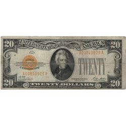 1928 $20 Fine Legal Tender Bank Note