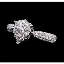 0.88 ctw Diamond Ring - 18KT White Gold