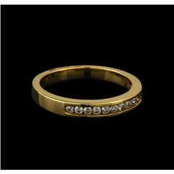0.18 ctw Diamond Band Ring - 14KT Yellow Gold