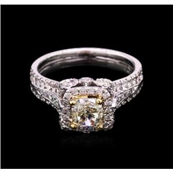 1.78 ctw Fancy Yellow Diamond Ring - 14KT Two-Tone Gold