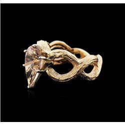 14KT Yellow Gold 2.70 ctw Morganite Ring