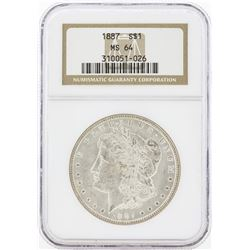 1887 MS64 NGC Morgan Silver Dollar