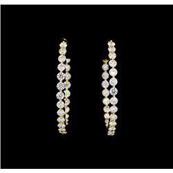 4.00 ctw Diamond Earrings - 18KT Yellow Gold