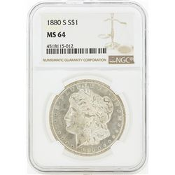 1880-S MS64 NGC Morgan Silver Dollar