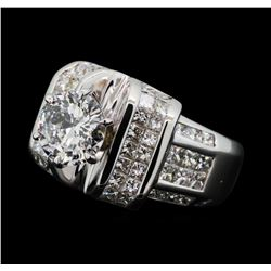 5.01 ctw Diamond Ring - 18KT White Gold