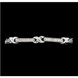 2.10 ctw Diamond Bracelet - 14KT White Gold