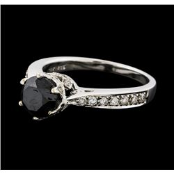 1.90 ctw Black Diamond Ring - 14KT White Gold