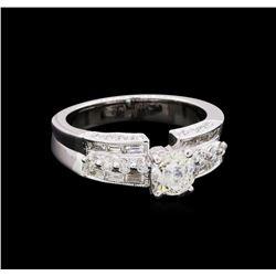 1.42 ctw Diamond Ring - 18KT White Gold