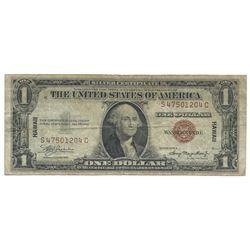 1935A $1 Silver Certificate WWII Hawaii Emergency Note