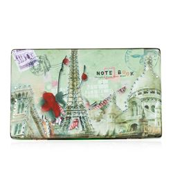 Neon Green Scenic Textured Clutch